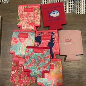 Lilly, Vineyard Vines and Southern Tide coozies.